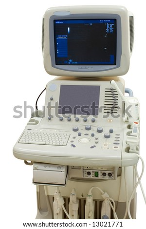 Ultrasonic scanning unit in the hospital - stock photo