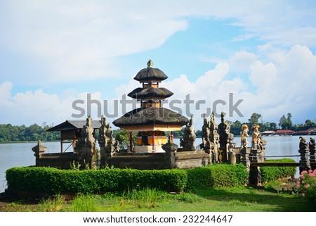 Ulun Danu Hindu temple, Bedugul, Bali, Indonesia - stock photo