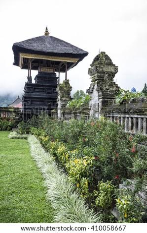 Ulun Danu Temple, Bali, Indonesia - Famous Ulun Danu Bratan temple in Bali, Indonesia. - stock photo