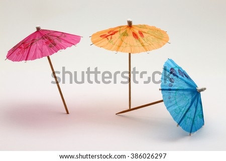 umbrella, cocktail - stock photo