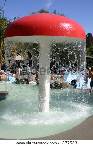 Umbrella Fountain - stock photo