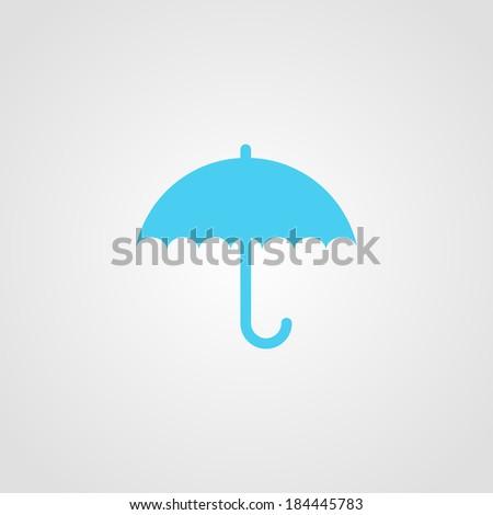 Umbrella Icon Isolated on White Background Raster - stock photo