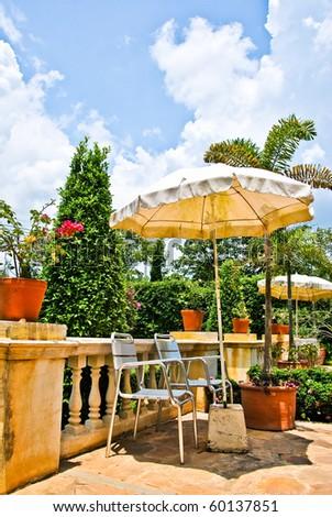 Umbrella in the sun - stock photo