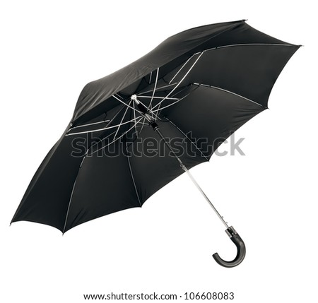 umbrella isolated on white - stock photo