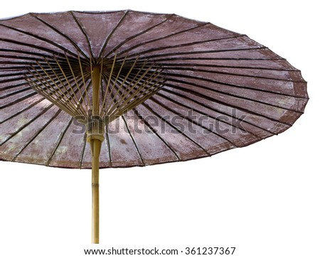 Umbrella isolated on white with clipping path - stock photo