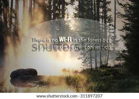 un?nown motivational no wi-fi quote, healthy lifestyle conceptual background  - stock photo