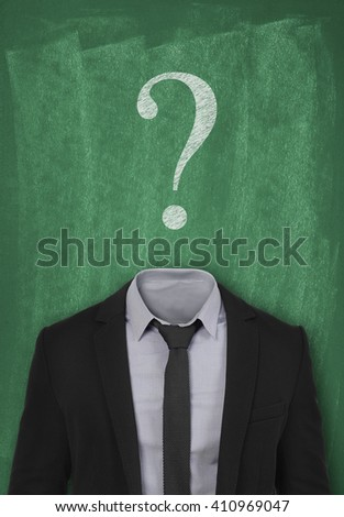 unanswered question - stock photo