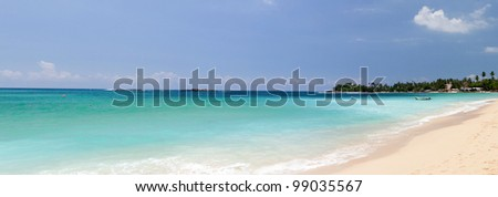 unawatuna sri lanka panorama - stock photo