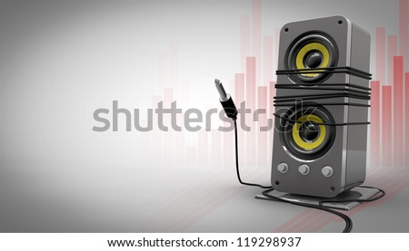 Unbounded music - stock photo