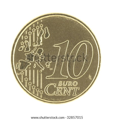 Uncirculated 10 eurocent - stock photo
