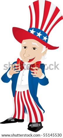 Uncle Sam United States of America. - stock photo