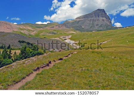 Uncompahgre Peak, Rocky Mountains, Colorado - stock photo