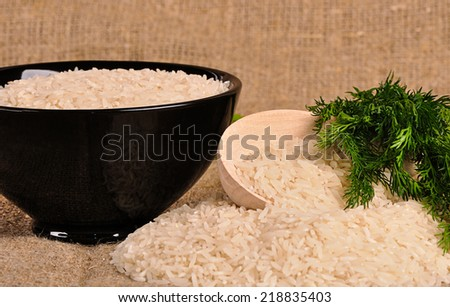 Uncooked basmati rice - stock photo