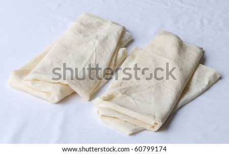 uncooked pastry isolated on a white background - stock photo