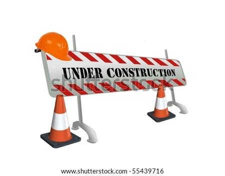 Under construction - stock photo