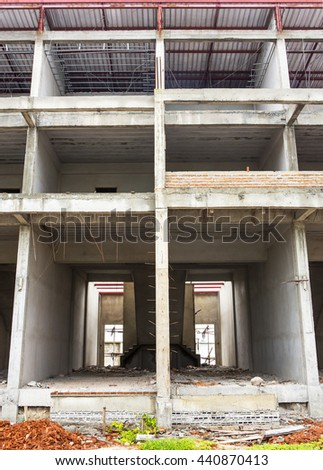 Under construction and building Site in progress - stock photo