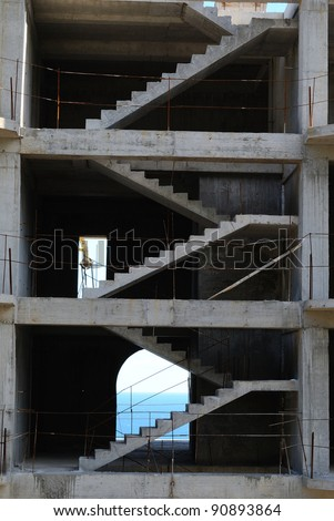 Under construction building - stock photo
