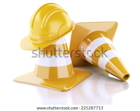 Under construction concept. 3d illustration - stock photo