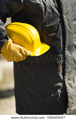 under construction concept with natural light, selective focus - stock photo