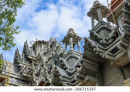 under construction temple,Thailand - stock photo