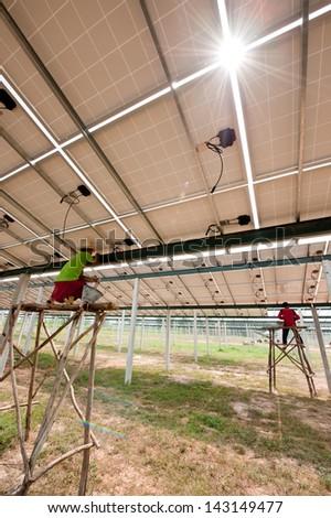under solar - stock photo