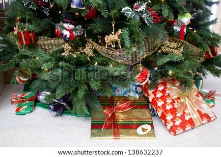 Under the Christmas Tree - stock photo
