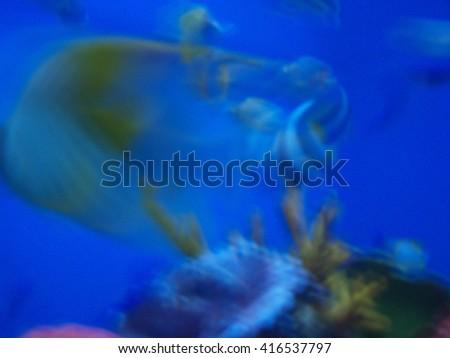 Under the ocean blur - abstract art - stock photo