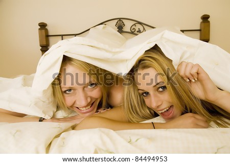 Under the sheets - stock photo