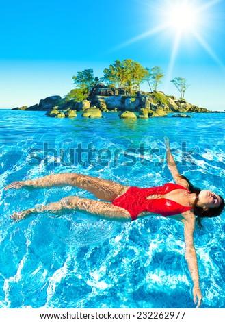 Under the Sun Careless Vacation  - stock photo