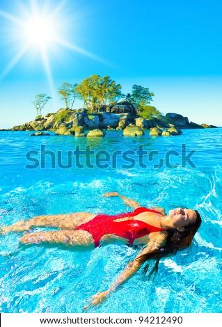 Under the Sun Summer Joy - stock photo