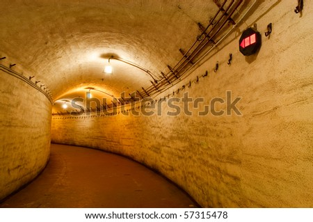 underground base at Balaclava. Ukraine. now a museum - stock photo