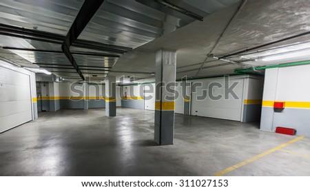 Underground Parking. - stock photo