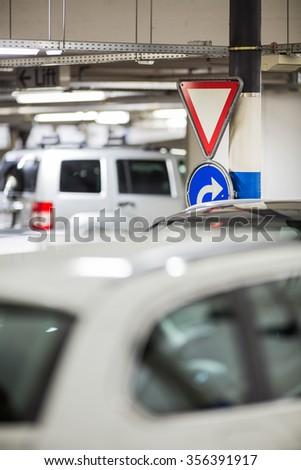 Underground parking/garage - stock photo