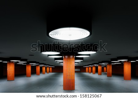 Underground passage at the ICC in Berlin - stock photo