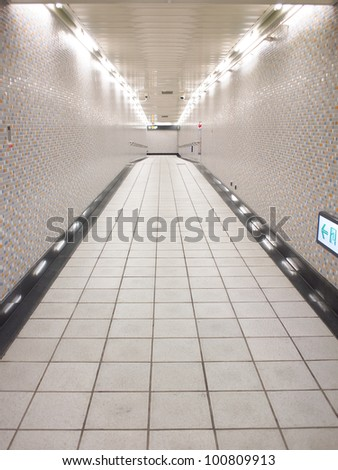 Underground passageTunnel - stock photo