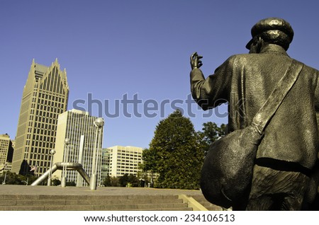Underground Railroad monument Detroit - stock photo