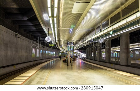 Underground railway station of Malmo, Sweden - stock photo