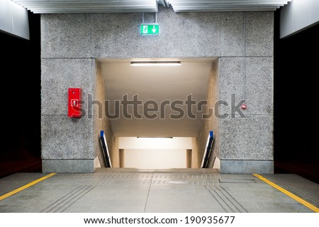 underpass at the railway station - stock photo
