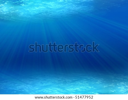 underwater - stock photo