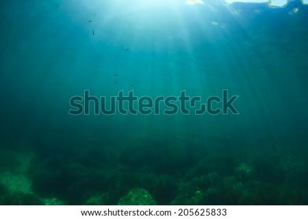 Underwater background photo - stock photo