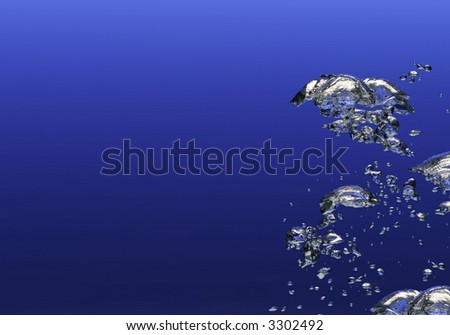 Underwater bubbles - stock photo
