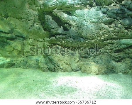 underwater rock - stock photo
