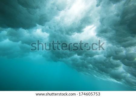 Underwater wave  - stock photo