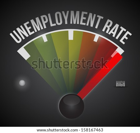 unemployment rate level illustration design graphic guide - stock photo