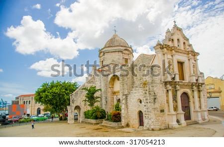 Unesco declared historic center of Havana, Cuba - stock photo