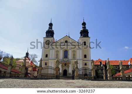 UNESCO listed sanctuary of Kalwaria Zebrzydowska near Krakow in Poland - stock photo