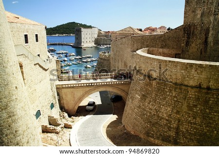 UNESCO old town of Kotor in Montenegro. - stock photo