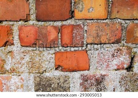 Uneven Brickwork background texture - stock photo