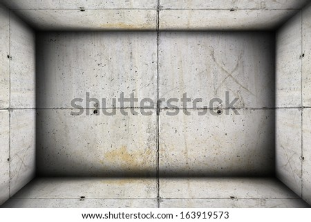 unfinished concrete  industrial interior backdrop for your design - stock photo