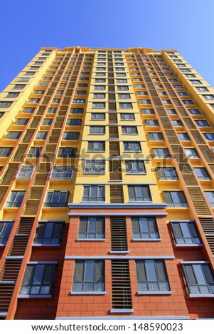 unfinished high rise building, north china  - stock photo